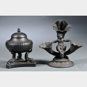 Two Wedgwood Black Basalt Items