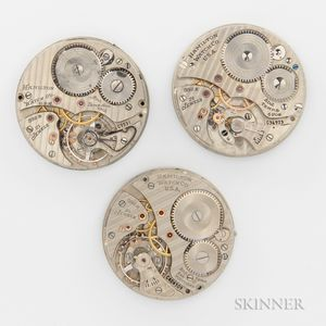 "Three Hamilton ""992B"" Watch Movements"