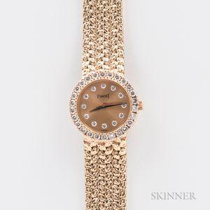 "Piaget 18kt Gold ""Polo"" 8296 Wristwatch"