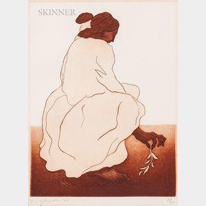Rudolph Carl Gorman (American, 1932-2005)      Two Prints of Women:   Head Down