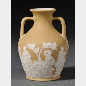 Wedgwood Yellow Jasper Dip Portland Vase