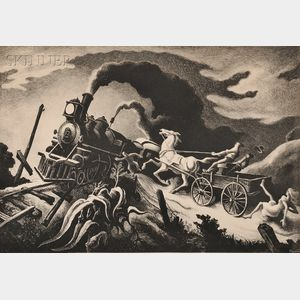 Thomas Hart Benton (American, 1889-1975)      Wreck of the Ol' 97