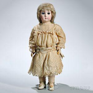 """Large Bébé Jumeau Triste or """"Long Face"""" Bisque Head Doll"""