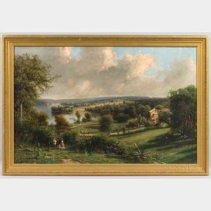 George Lafayette Clough (New York, 1824-1901), Springside, the Summer Home of the John Newcomb Knapp Family on Owasco Lake, Near Aubu