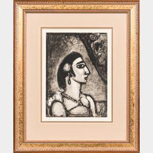 Georges Rouault (French, 1871-1958)      Femme de profil, vers la droite