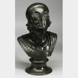 Wedgwood Black Basalt Library Bust of Minerva