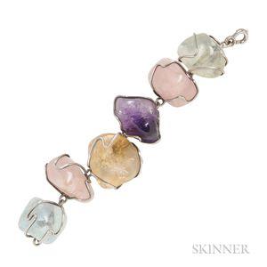 Sterling Silver Gem-set Bracelet, H. Fred Skaggs