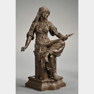 Bronzed Metal Figure of a Gypsy