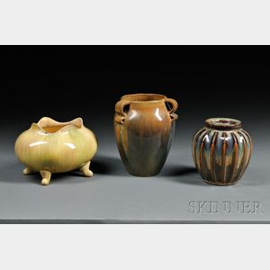 Three Pieces of Arts & Crafts Pottery