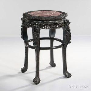 Hardwood Marble-top Table