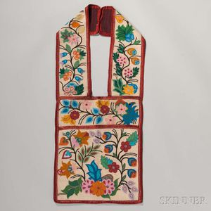 Ojibway Beaded Cloth Bandolier Bag