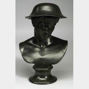Wedgwood Black Basalt Library Bust of Paris
