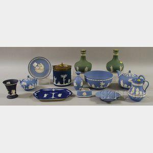 Thirteen Pieces of Wedgwood Jasper Table Items