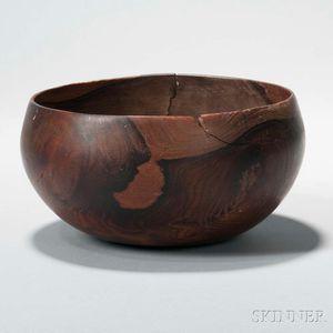 Hawaiian Carved Wood Bowl