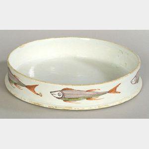 Polychrome Delftware Char Pot