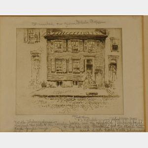 Pennell, Joseph (1857-1926),   Walt Whitman House, Camden, New Jersey