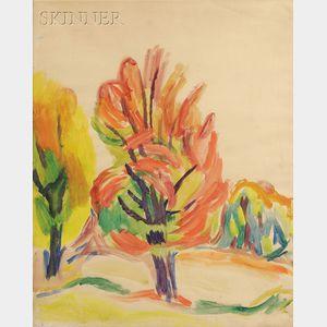Carl Sprinchorn  (American, 1887-1971)      Red Maple