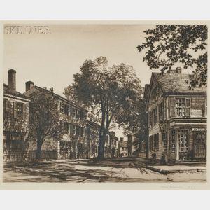 Samuel V. Chamberlain (American, 1895-1975)      Five House Portraits: Saint George Tucker House, Williamsburg