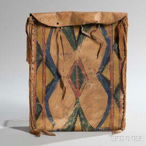 Sioux Painted Parfleche Work Bag