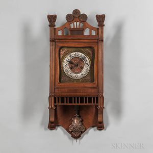 German Art Nouveau Wall Clock