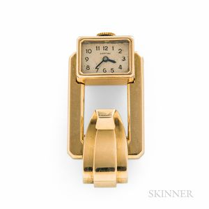 Cartier 18kt Gold Brooch or Lapel Watch