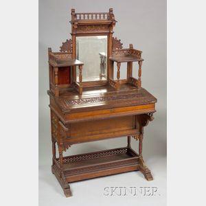 Aesthetic Movement Walnut Writing Desk