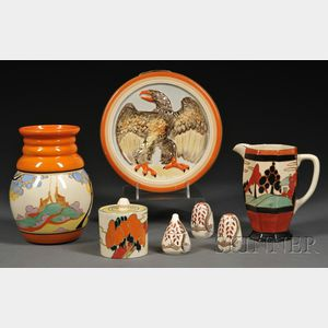 Seven Clarice Cliff Pottery Items