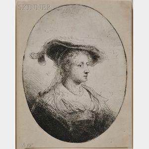 Ferdinand Bol (Dutch, 1616-1680)      Portrait of a Woman in an Oval