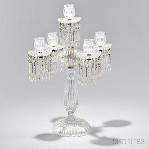 American Brilliant-cut Colorless Glass Girandole