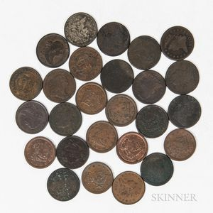 Group of Half Cents