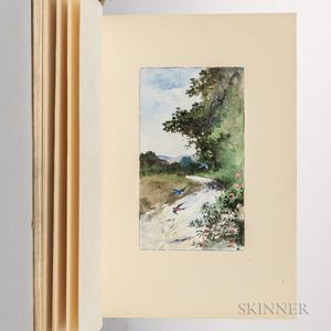 Tennyson, Alfred Lord (1809-1892) The Brook  , Manuscript Illustrated by Alfred Laurens Brennan (1853-1921)