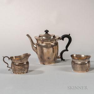 Three-piece William DeMatteo Sterling Silver Coffee Service