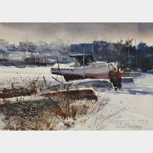 Donald Stone (American, 1929-2015)      Winter Storage