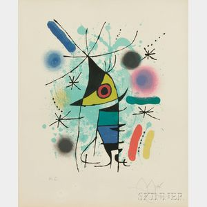 Joan Miró (Spanish, 1893-1983)      Plate   from Miró Lithographs I