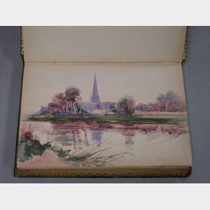Sketchbook with Five Small Watercolors by H.H. Travers