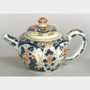 Polychrome Delftware Teapot