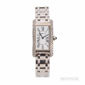 Geneve 18kt White Gold and Diamond Wristwatch