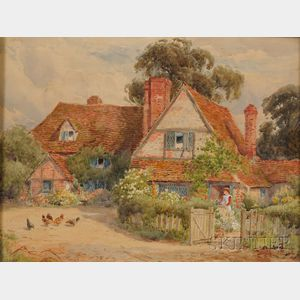 Alfred A. Waters (British, 1849-1912)      A Bit of Rural England