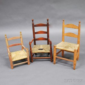 Three Children's Painted Chairs