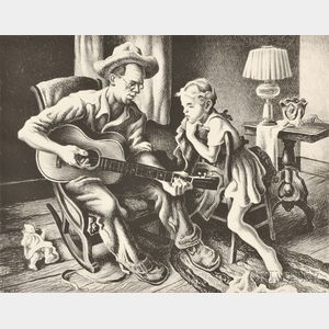 Thomas Hart Benton (American, 1889-1975)      The Music Lesson