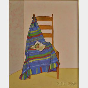 Marvel Wynn (American, 1915-2002)      Pear on a Chair