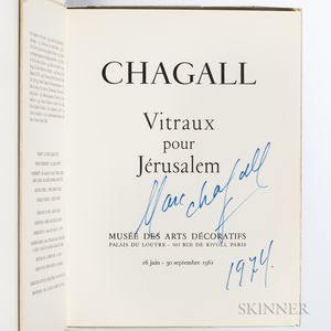 Chagall, Marc (1887-1995) Vitraux pour Jerusalem  , Signed by Chagall.