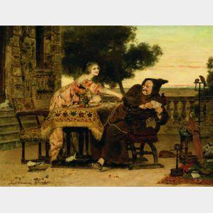 Antonio Casanova y Estorach (Spanish, 1847-1896)    A Very Good Hand