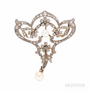 Belle Epoque Diamond Pendant/Brooch