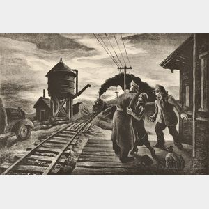 Thomas Hart Benton (American, 1889-1975)      Morning Train