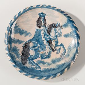 Charles II Royal Portrait Charger