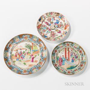 Three Rose Medallion Dishes