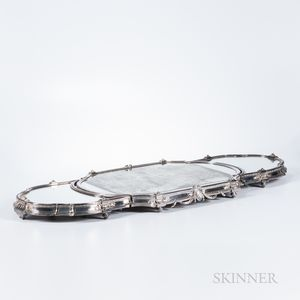 French Three-piece Silver-plated Plateau