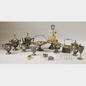 Thirteen Victorian Silver Plated Serving Items