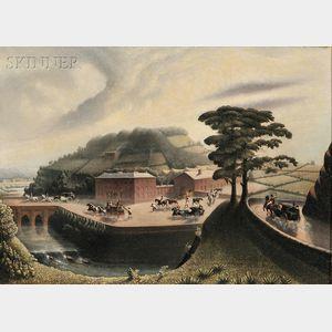 China Trade School, 19th Century      British Coaching View
